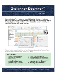 Z-planner Designer Datasheet