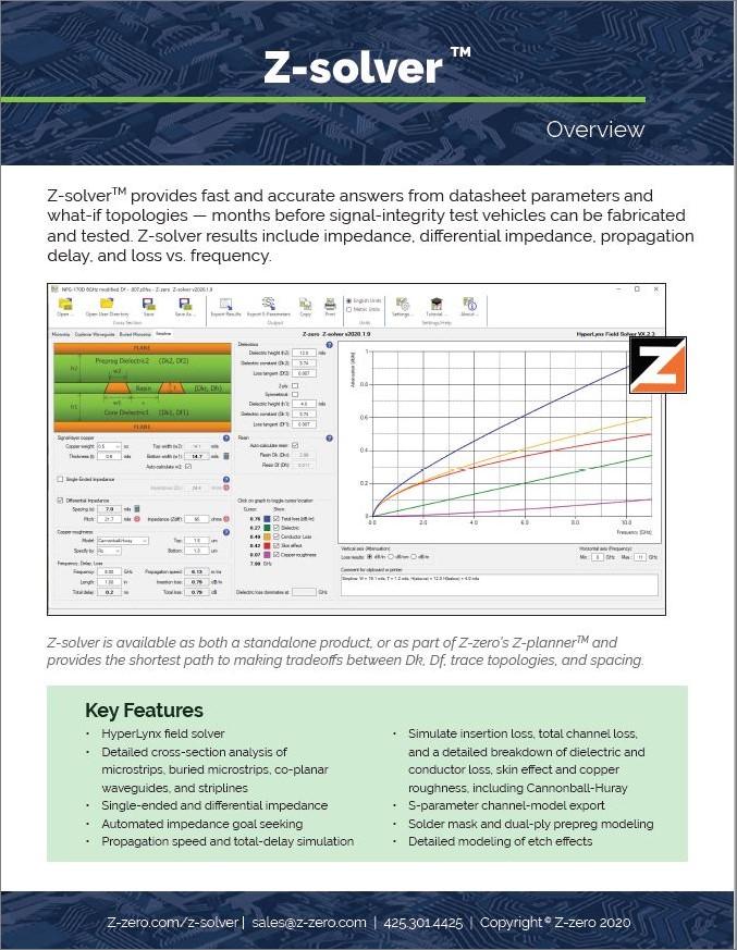 Z-solver Datasheet Thumbnail
